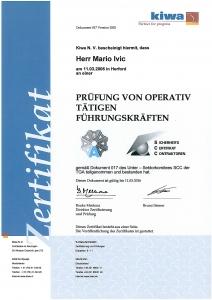 SCC 017 Zertifikat