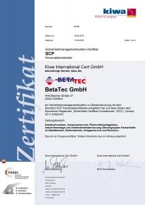 SCP Zertifikat