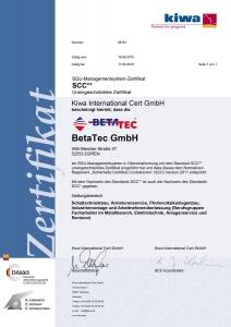 SCC** Zertifikat